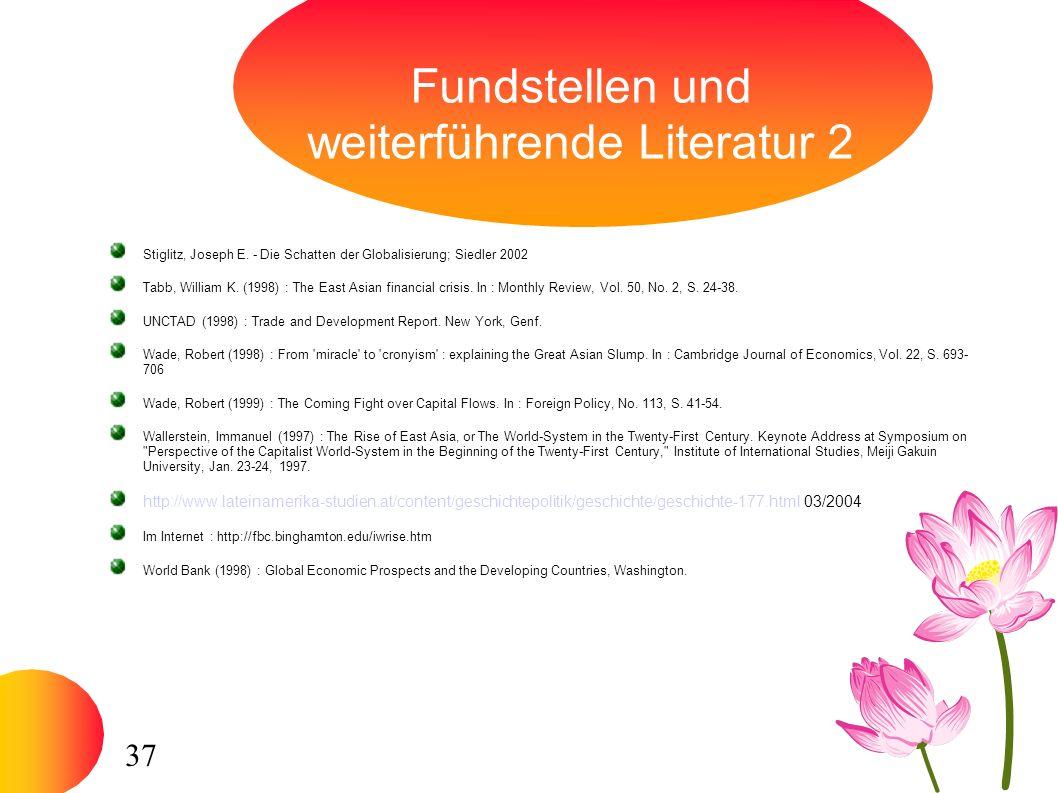 37 Fundstellen und weiterführende Literatur 2 Stiglitz, Joseph E.