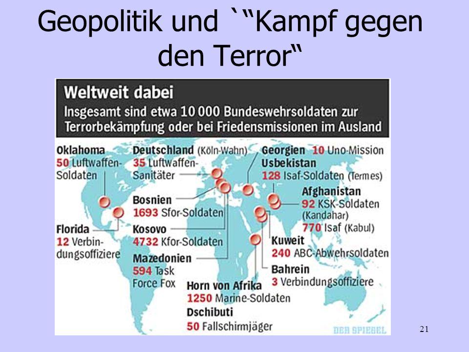 ATTAC-Stuttgart St.Best21 Geopolitik und `Kampf gegen den Terror