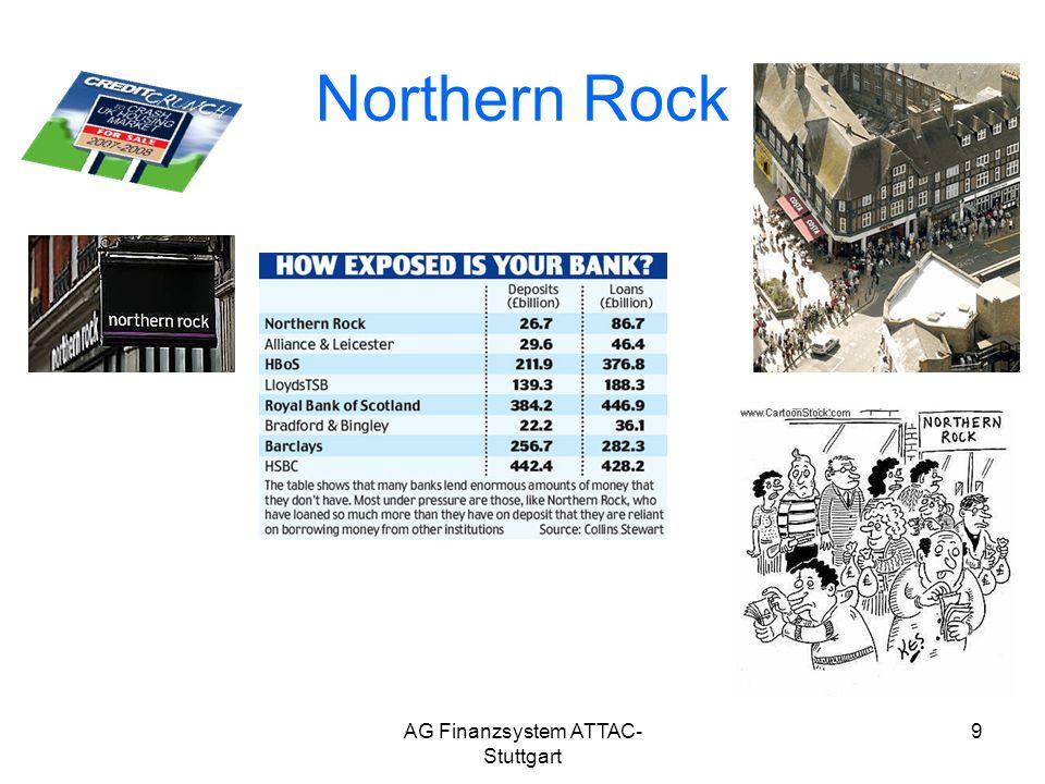AG Finanzsystem ATTAC- Stuttgart 9 Northern Rock