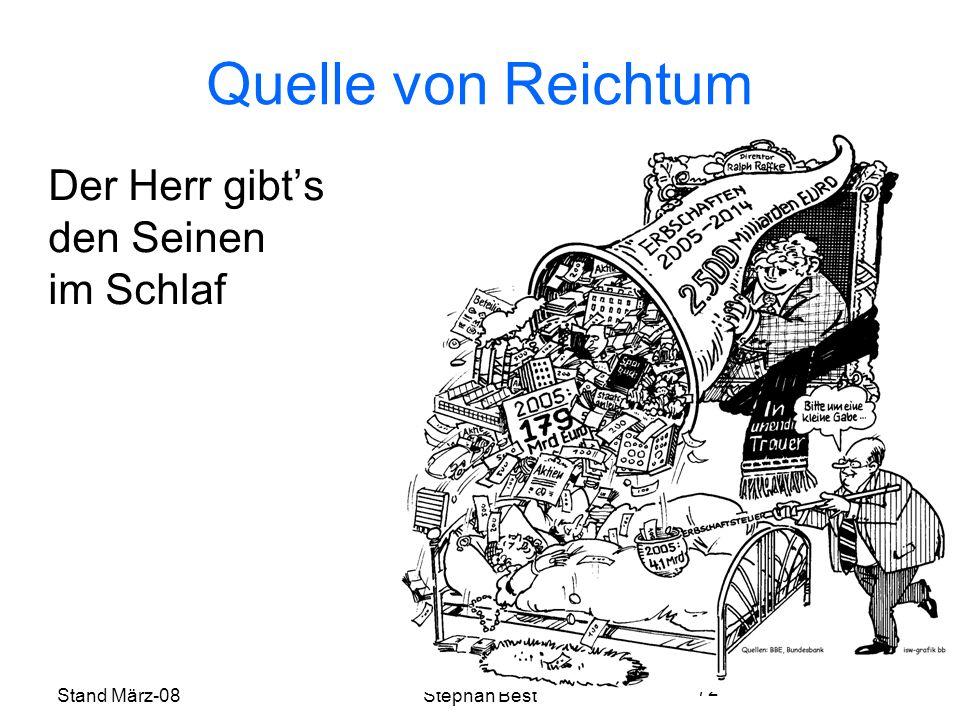 Stand März-08Stephan Best 72 Quelle von Reichtum Der Herr gibts den Seinen im Schlaf