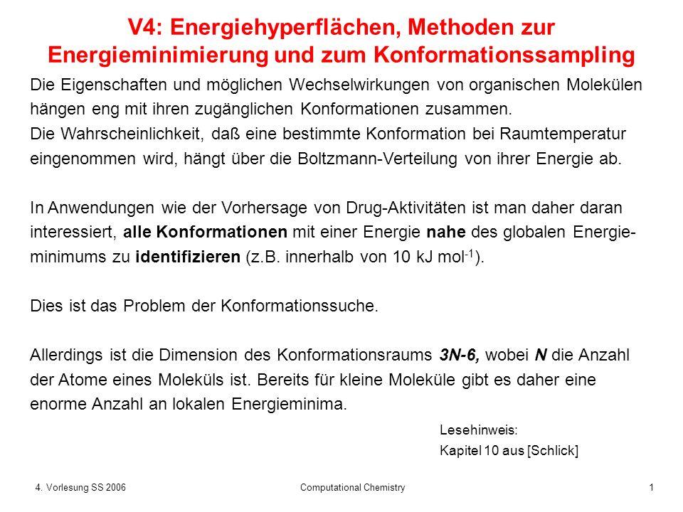 24.Vorlesung SS 2006 Computational Chemistry Warum kT .