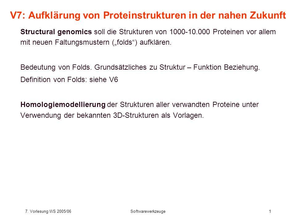7.Vorlesung WS 2005/06Softwarewerkzeuge42 2.