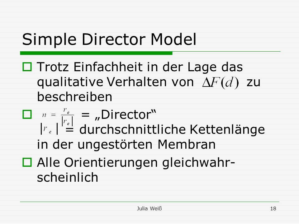 Julia Weiß18 Simple Director Model Trotz Einfachheit in der Lage das qualitative Verhalten von zu beschreiben = Director = durchschnittliche Kettenlän