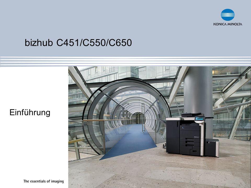 Einführung bizhub C451/C550/C650