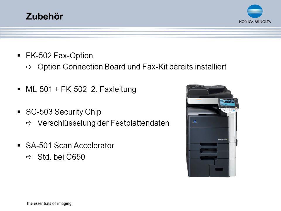 FK-502 Fax-Option Option Connection Board und Fax-Kit bereits installiert ML-501 + FK-502 2.