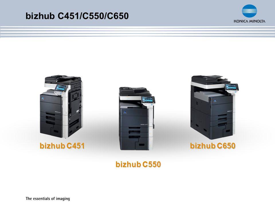 bizhub C451/C550/C650 Sicherheit & Kostentransparenz