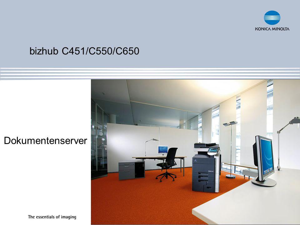 bizhub C451/C550/C650 Dokumentenserver