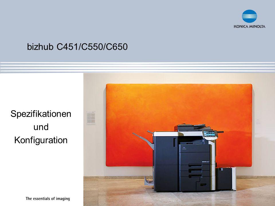 bizhub C451/C550/C650 Spezifikationen und Konfiguration