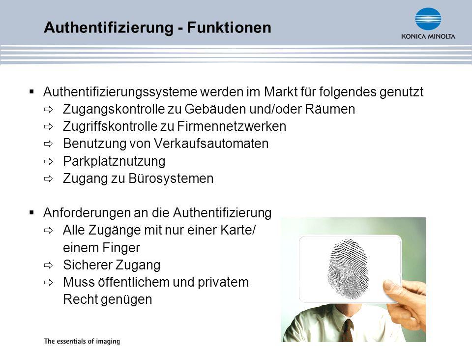 Authentifizierungssysteme werden im Markt für folgendes genutzt Zugangskontrolle zu Gebäuden und/oder Räumen Zugriffskontrolle zu Firmennetzwerken Ben