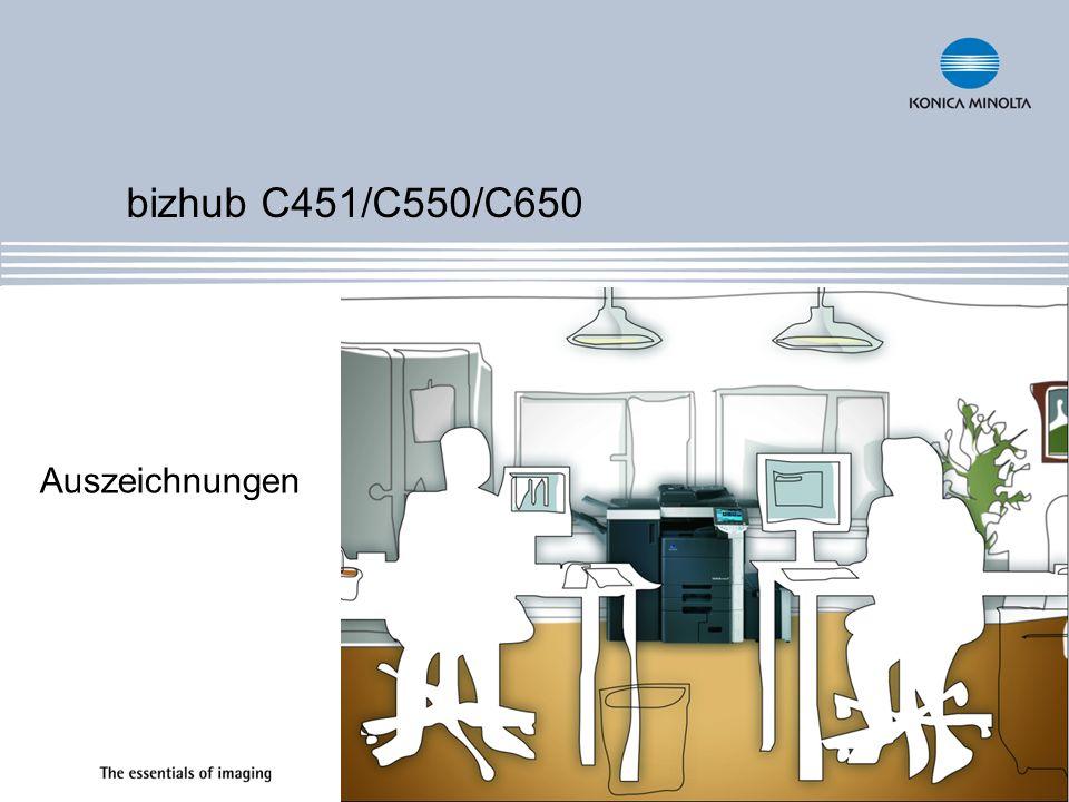 bizhub C451/C550/C650 Auszeichnungen