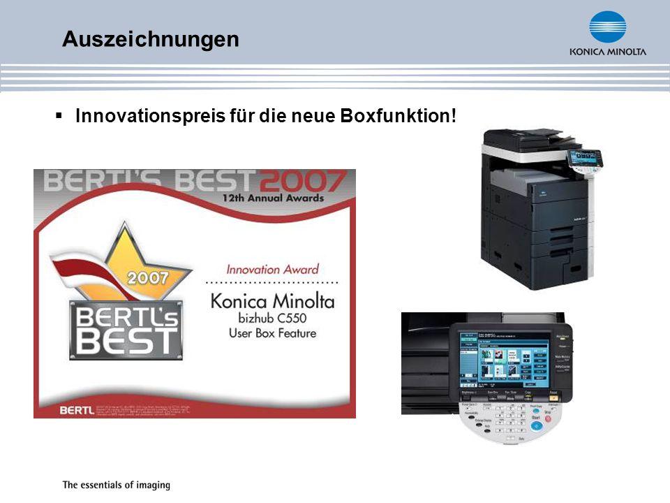 Auszeichnungen Innovationspreis für die neue Boxfunktion!