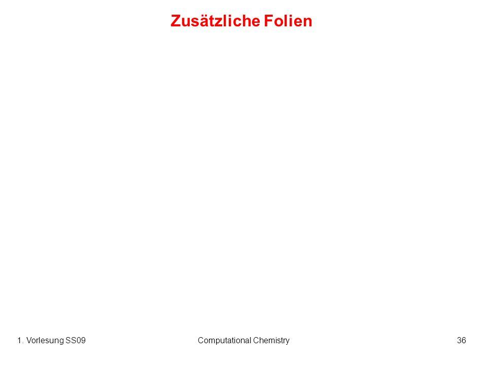 1. Vorlesung SS09Computational Chemistry36 Zusätzliche Folien