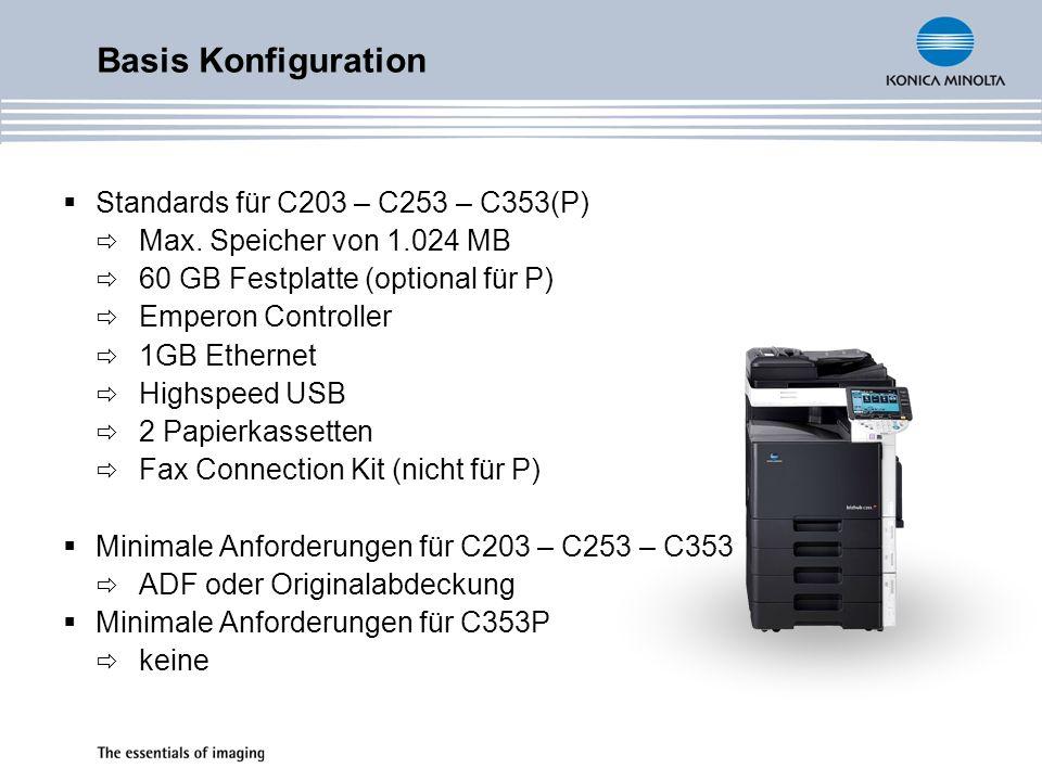 Standards für C203 – C253 – C353(P) Max.