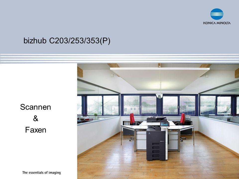 bizhub C203/253/353(P) Scannen & Faxen