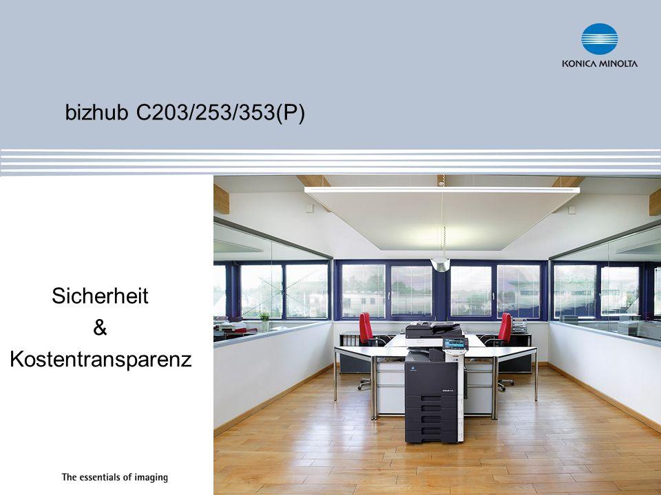 bizhub C203/253/353(P) Sicherheit & Kostentransparenz