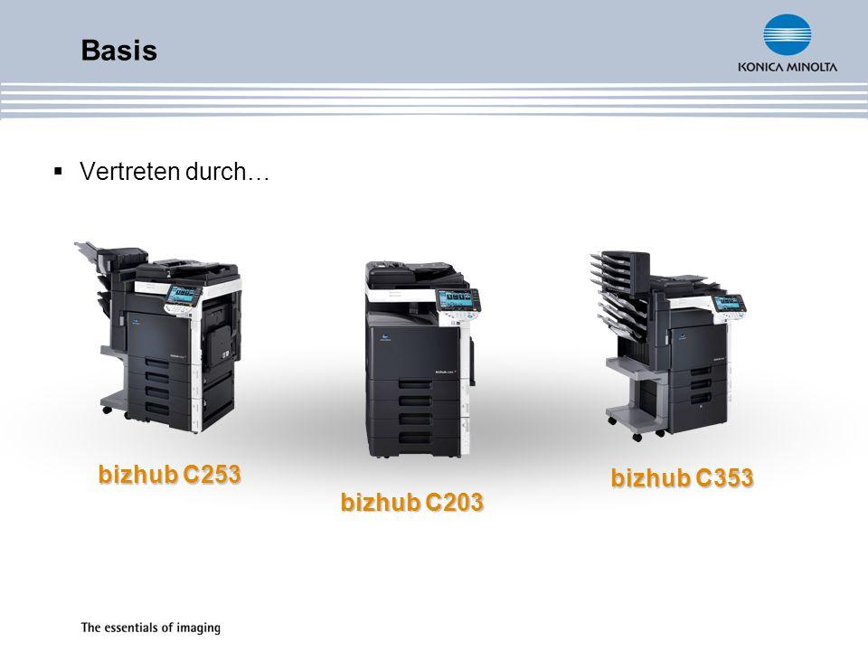 Vertreten durch… Basis bizhub C253 bizhub C203 bizhub C353