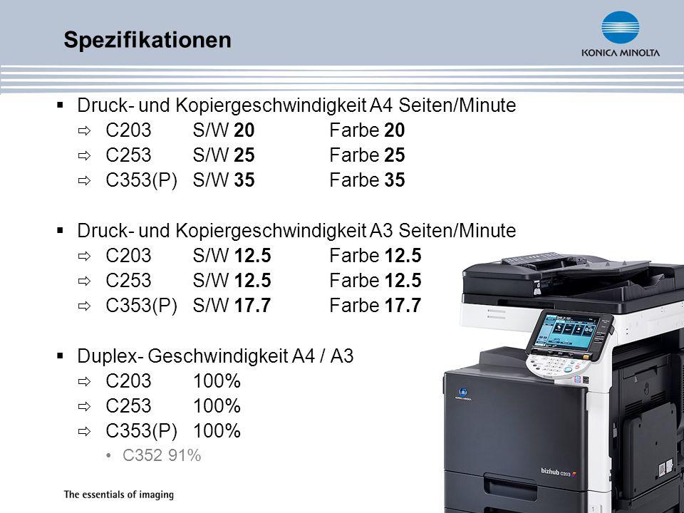 bizhub C203/C253/C353 und C353P Neue Technologien & Funktionalitäten