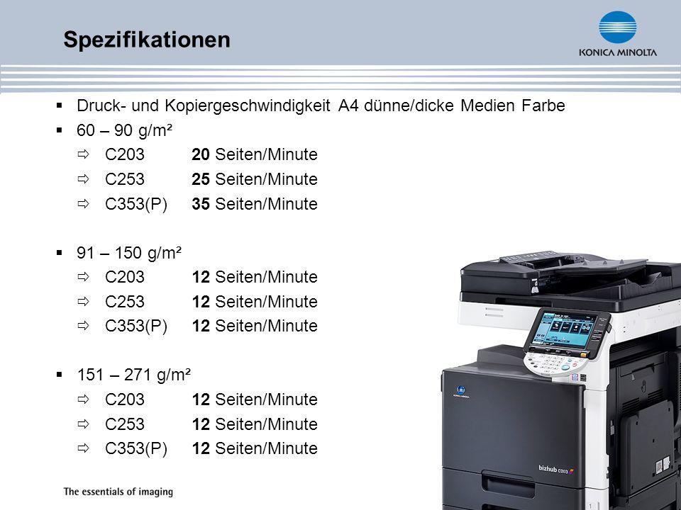 Fax - (Zubehör) analoges G3-Fax (Zubehör) iFax, IP-Fax, SIP-Fax 200-600 dpi (Standard, Fein, Superfein, Ultrafein) Übertragungsgeschwindigkeit: 2.400 - 33.600bps Codierung (Kompression) - MH, MR, MMR, JBIG bis zu 9.000 Dokumente speicherbar zweite Fax-Leitung optional alle gängigen Funktionen: vertraulicher Faxversand und –empfang, zeitversetztes Senden, Sendeabruf, u.v.m.