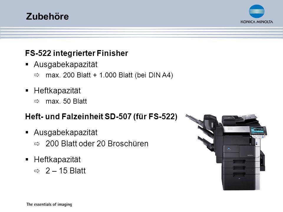 Zubehöre PU-501 Locheinheit (für FS-522) 60 – 160 g/m² 4-fach Lochung OT-602 3.
