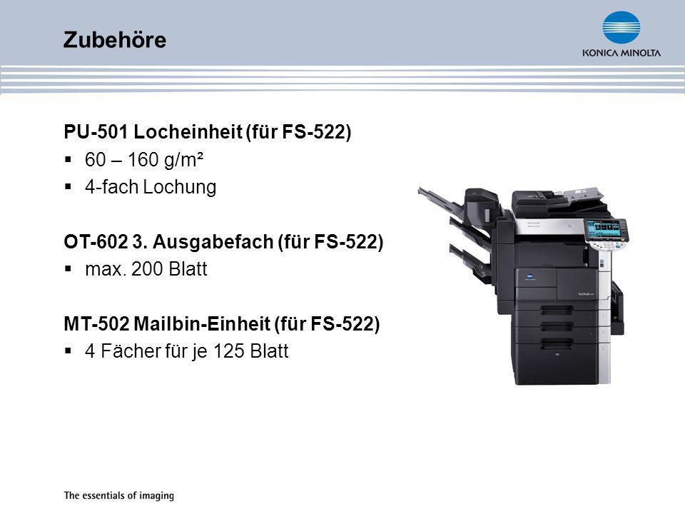 Zubehöre FS-523 Heft- und Lochfinisher Ausgabekapazität max.