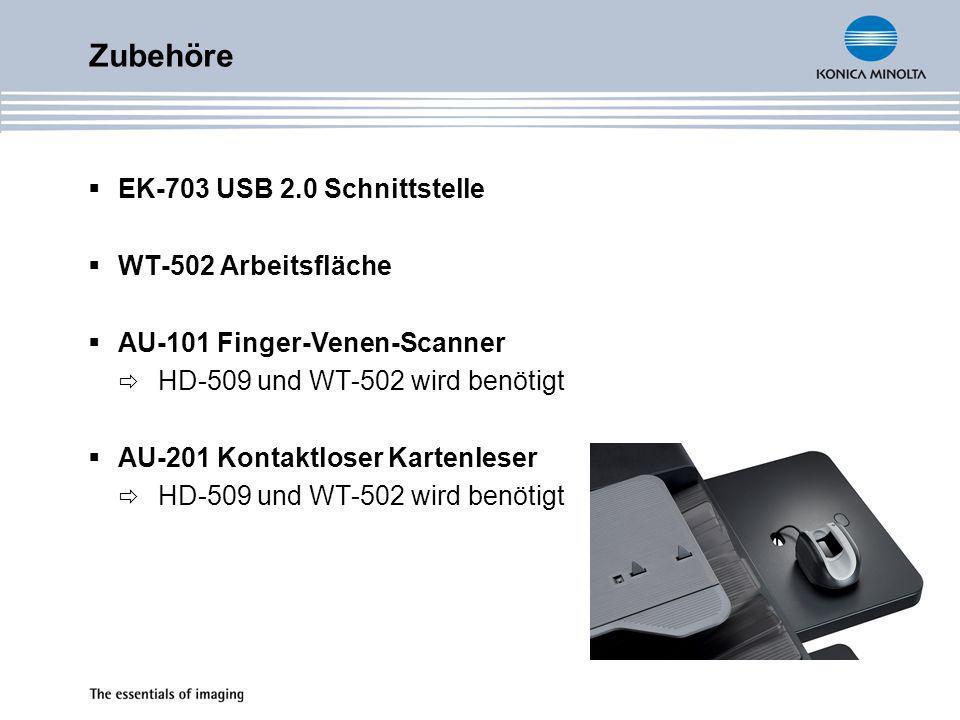 IC-207 Druckcontroller PCL5e/6, PostScript 3 FK-502 Fax-Option Mounting-Kit MK-708 bereits installiert ML-503 2.