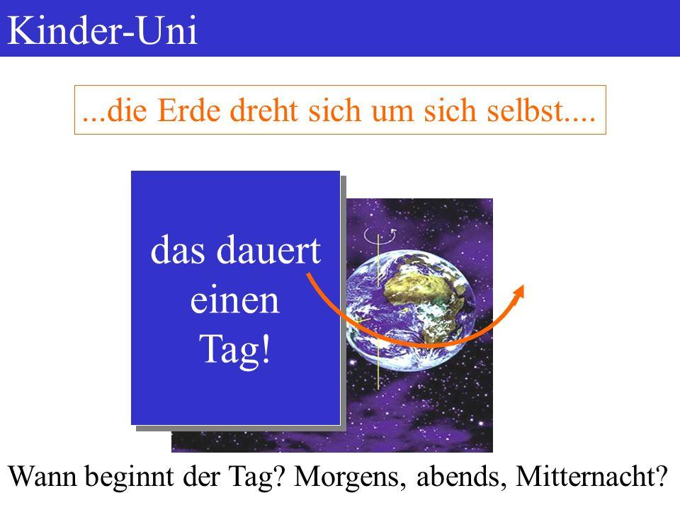 Kinder-Uni kleine Geschichte des Kalenders 2006Dr. Bucher7...die Erde dreht sich um die Sonne,...der Mond dreht sich um die Erde,...die Erde dreht sic