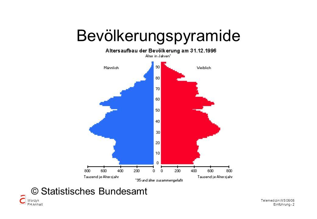Worzyk FH Anhalt Telemedizin WS 05/06 Einführung - 2 Bevölkerungspyramide © Statistisches Bundesamt