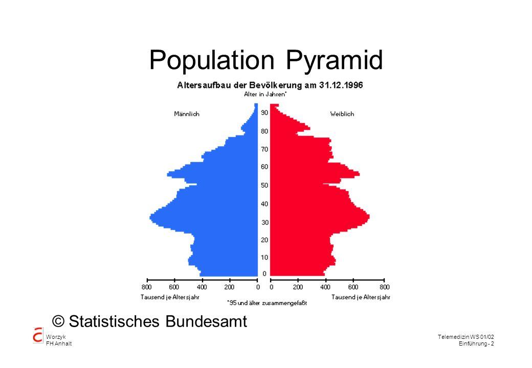 Worzyk FH Anhalt Telemedizin WS 01/02 Einführung - 2 Population Pyramid © Statistisches Bundesamt