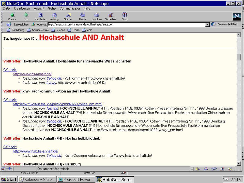 Datenbanksysteme für FÜ SS 2000 Seite 11 - 26 Worzyk FH Anhalt