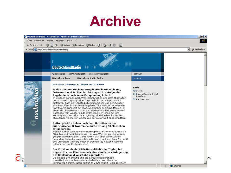Datenbanksysteme für FÜ SS 2000 Seite 11 - 28 Worzyk FH Anhalt Archive