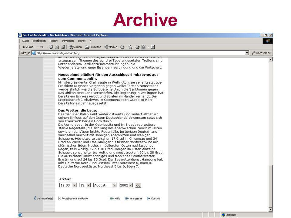 Datenbanksysteme für FÜ SS 2000 Seite 11 - 29 Worzyk FH Anhalt Archive