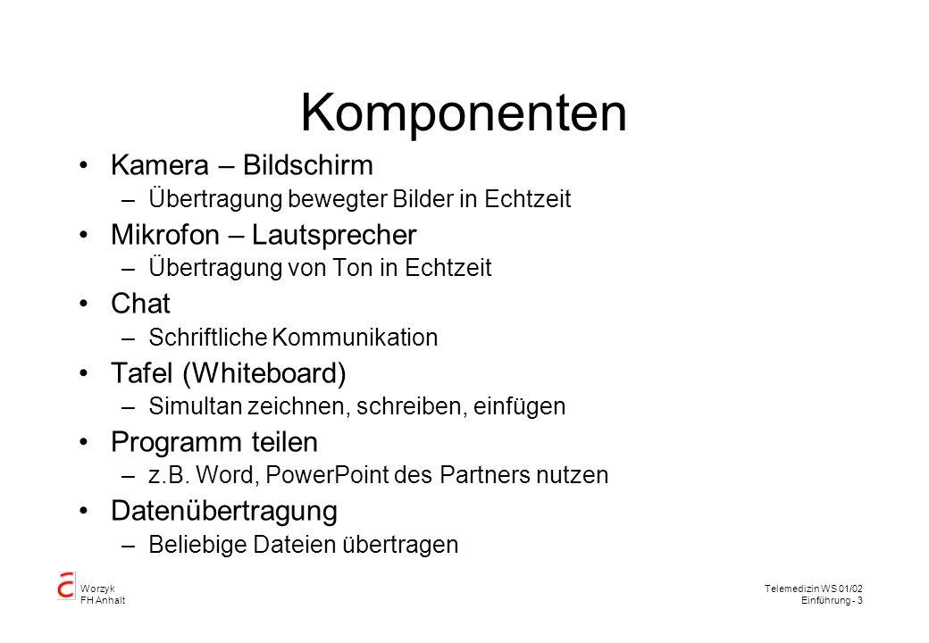 Worzyk FH Anhalt Telemedizin WS 01/02 Einführung - 4