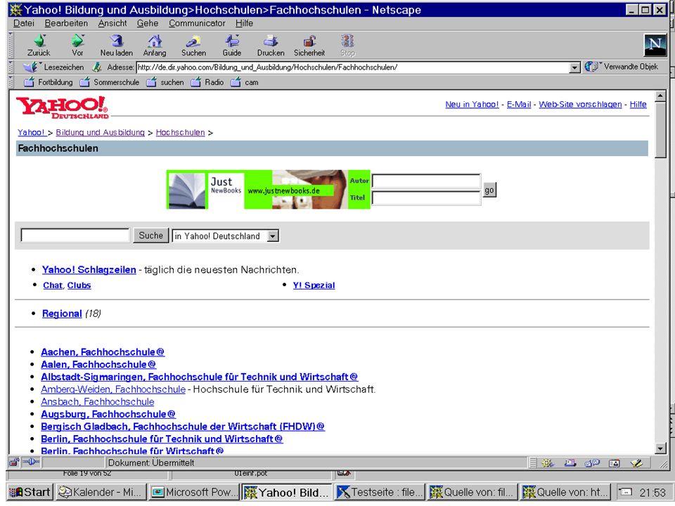Datenbanksysteme für FÜ SS 2000 Seite 11 - 22 Worzyk FH Anhalt