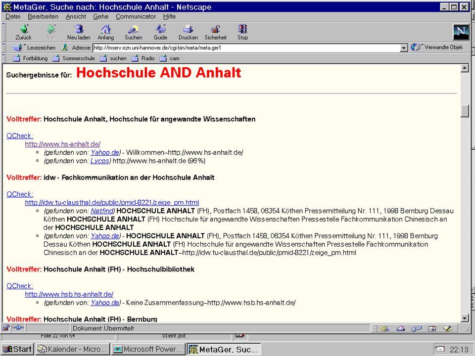 Datenbanksysteme für FÜ SS 2000 Seite 11 - 24 Worzyk FH Anhalt