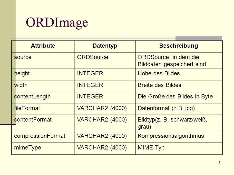 9 ORDImage Unterstützte Bildformate: BMP GIF JPG CALS Raster – Format JFIF – Format PCX – Format PICT – Format Raw Pixel – Format Sun Raster – Format Targa – Format TIFF - Format
