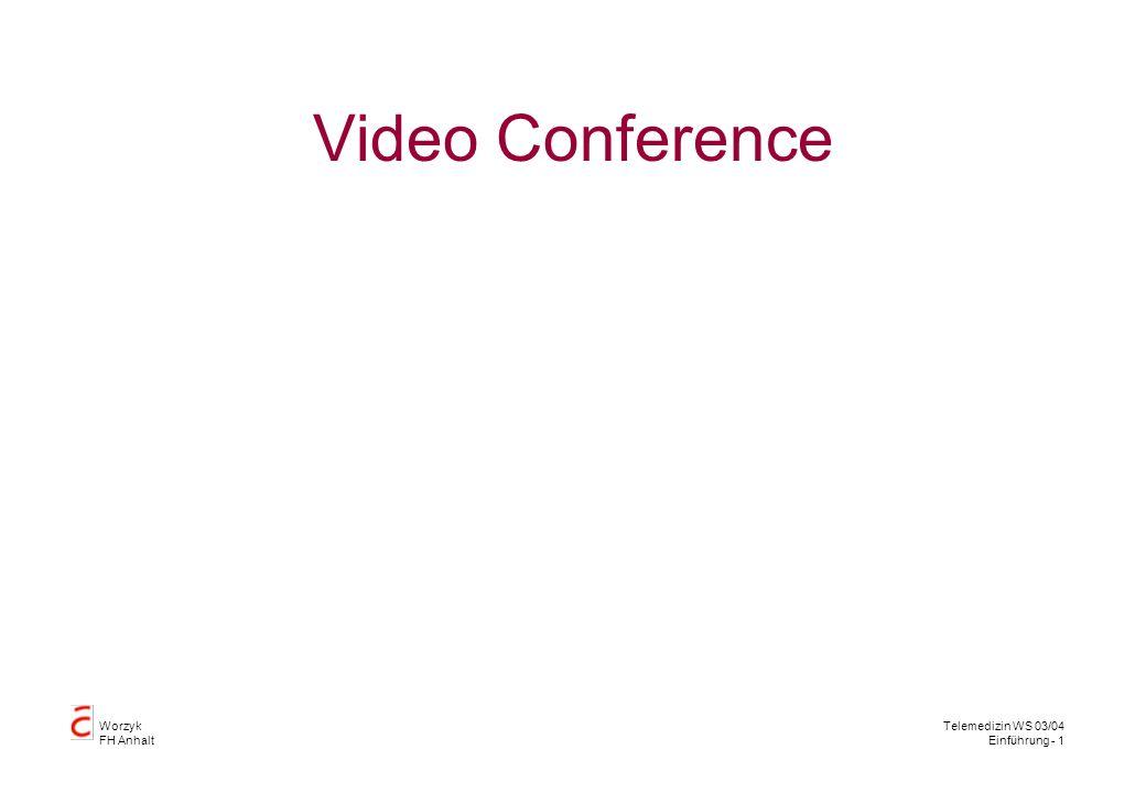 Worzyk FH Anhalt Telemedizin WS 03/04 Einführung - 1 Video Conference