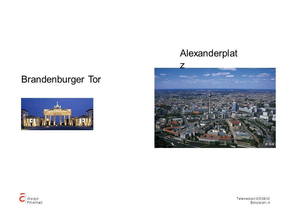 Worzyk FH Anhalt Telemedizin WS 09/10 Exkursion - 4 Alexanderplat z Brandenburger Tor