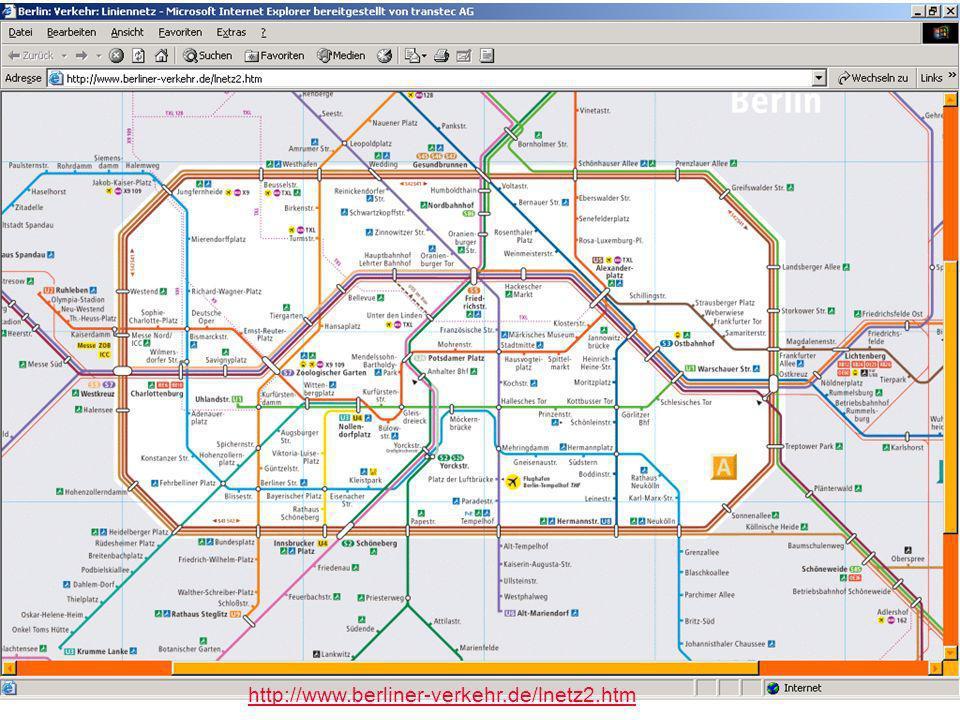 Worzyk FH Anhalt Telemedizin WS 09/10 Exkursion - 8 http://www.berliner-verkehr.de/lnetz2.htm