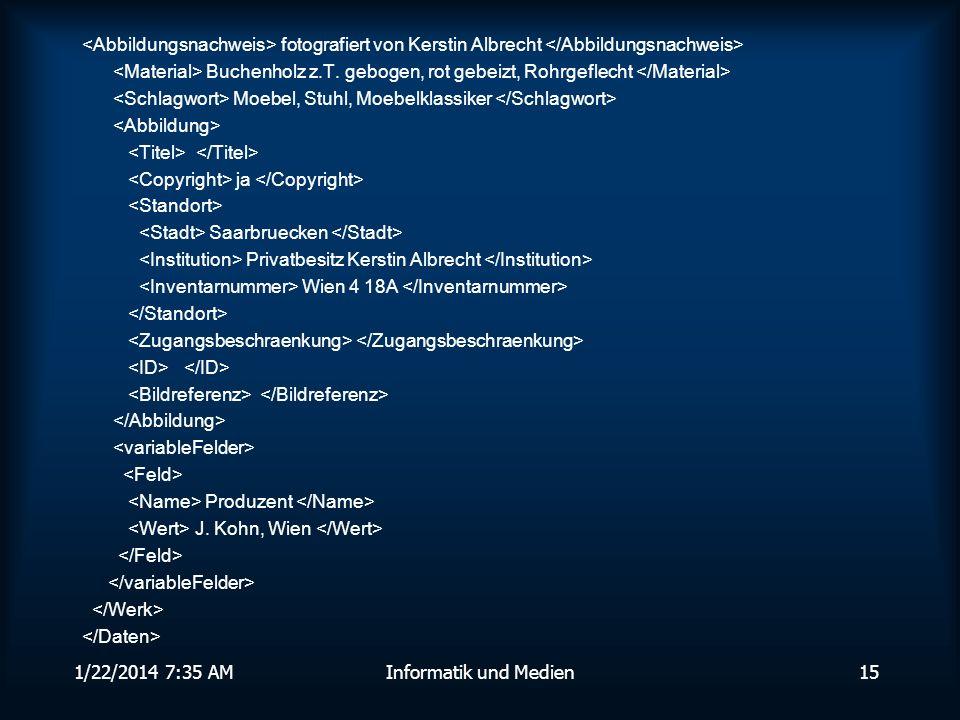 1/22/2014 7:36 AMInformatik und Medien15 fotografiert von Kerstin Albrecht Buchenholz z.T.