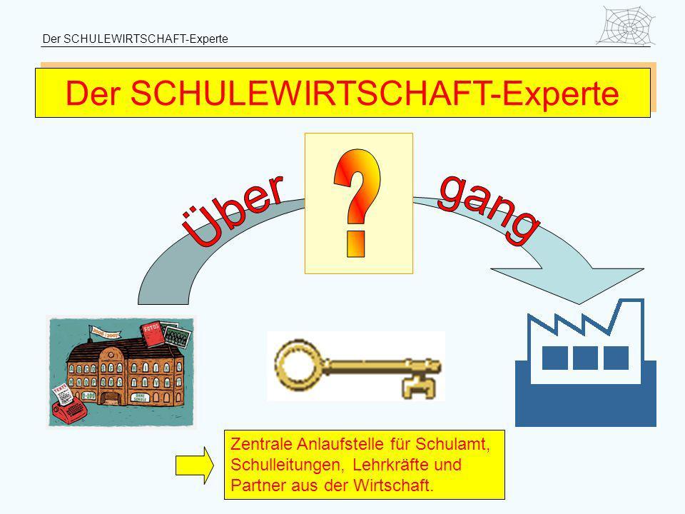 Der SCHULEWIRTSCHAFT-Experte Zentrale Anlaufstelle für Schulamt, Schulleitungen, Lehrkräfte und Partner aus der Wirtschaft.