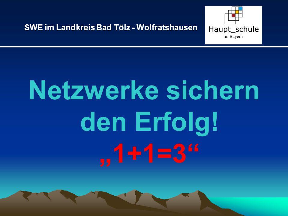Netzwerke sichern den Erfolg! 1+1=3 SWE im Landkreis Bad Tölz - Wolfratshausen