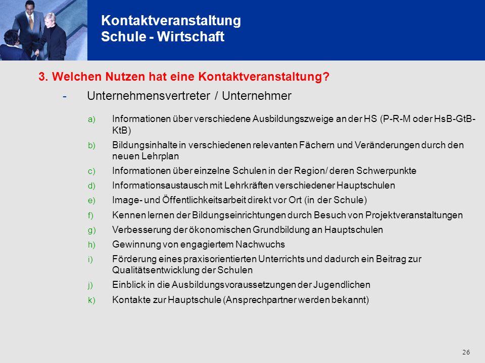 27 Kontaktveranstaltung Schule - Wirtschaft 4.