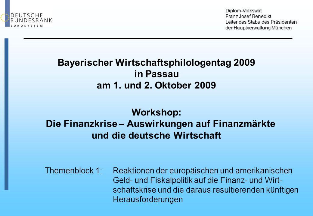 Diplom-Volkswirt Franz Josef Benedikt Leiter des Stabs des Präsidenten der Hauptverwaltung München Bayerischer Wirtschaftsphilologentag 2009 in Passau