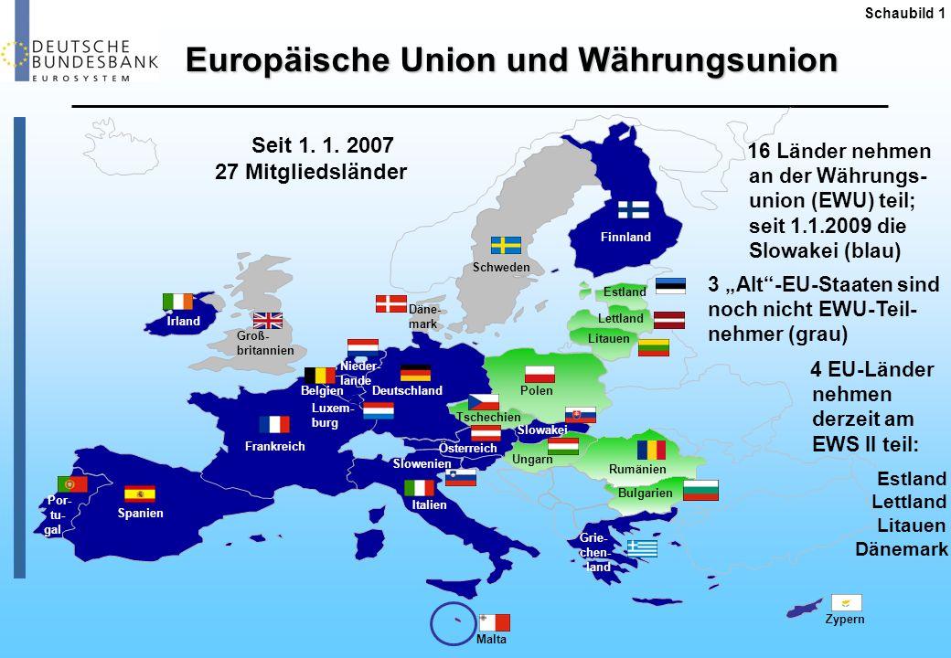Devisenkurse ausgewählter EU-Währungen Schaubild 2 2.1.2008 = 100 20082009 Euro-Referenzkurse der EZB; 1 EUR = …