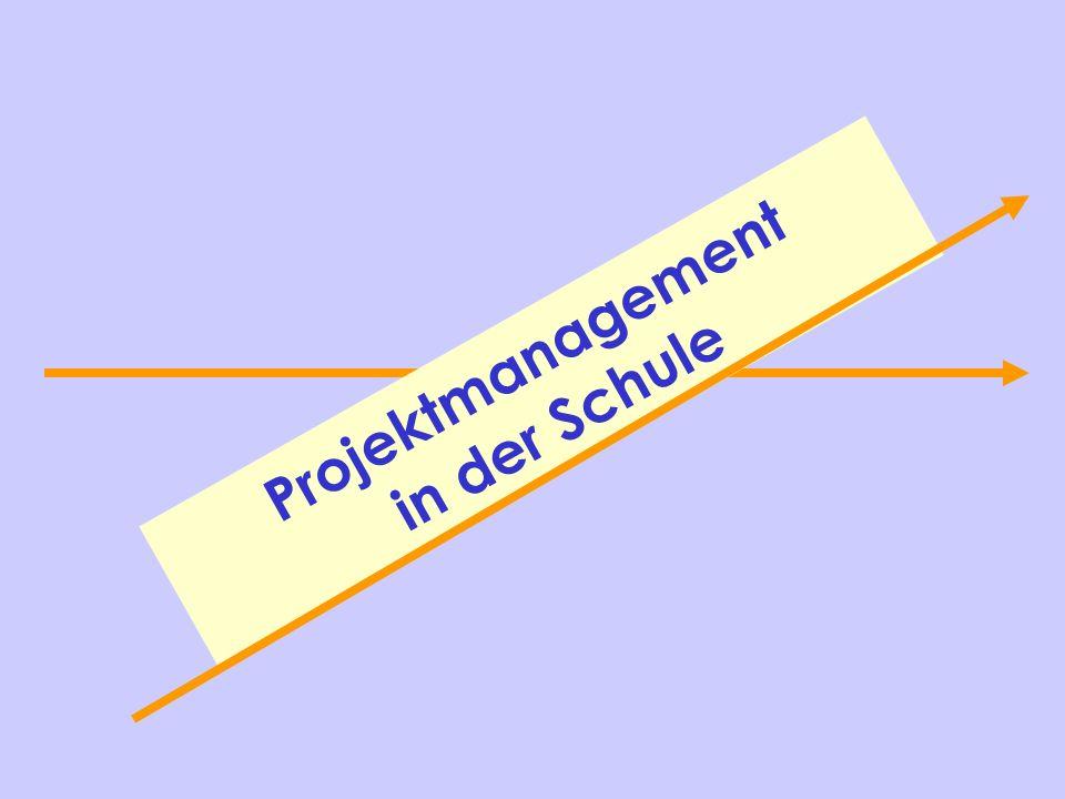 Projektmanagement in der Schule