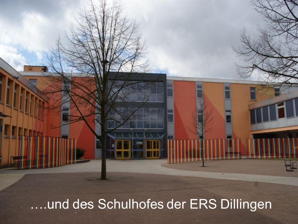 ….und des Schulhofes der ERS Dillingen