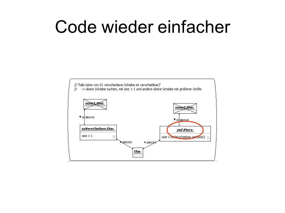 Code wieder einfacher
