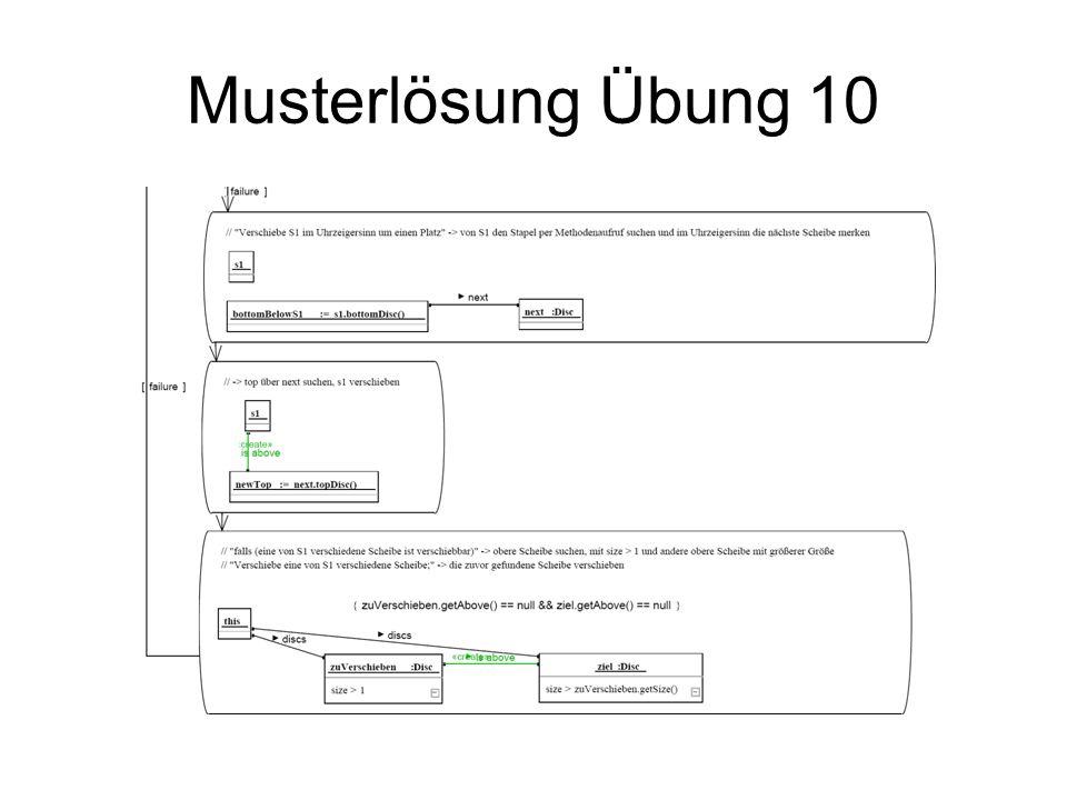 Musterlösung Übung 10