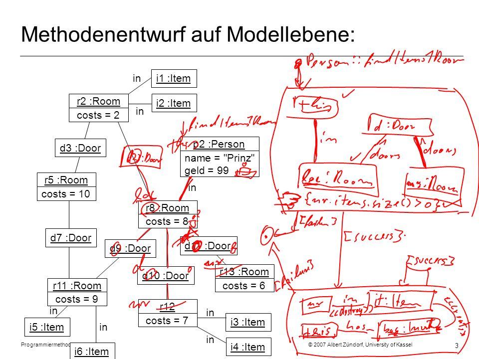 Programmiermethodik SS2007 © 2007 Albert Zündorf, University of Kassel 14 Rule Syntax: Overview