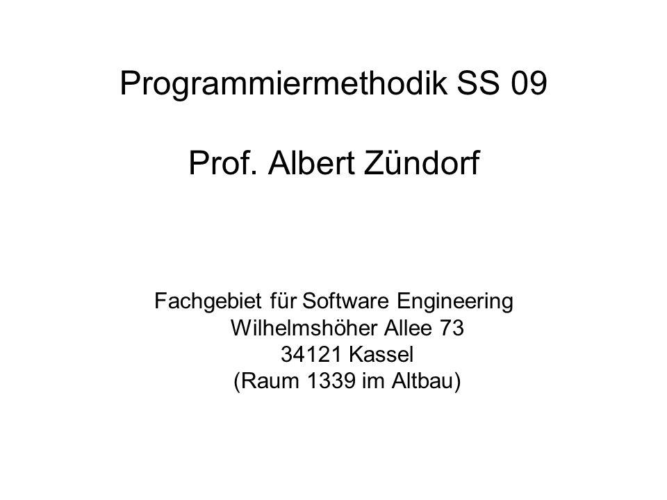 Programmiermethodik SS 09 Prof.